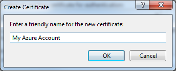 Creating a new certificate