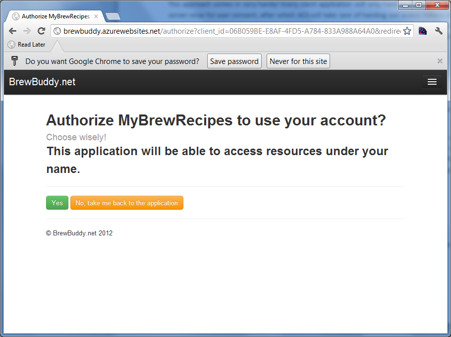 Authorize process on Azure