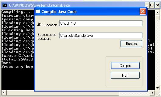 Compiling and executing Java Code in Visual Basic - VB 6